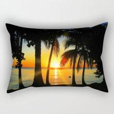 Sunset on Exotic Beach Rectangular Pillow
