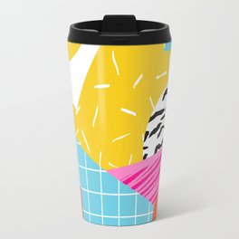 Homefry - abstract pattern memphis retro throwback 80s neon vibes trendy art decor Travel Mug