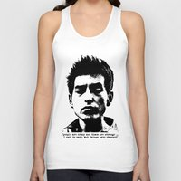 woodstock Tank Tops featuring Bob Dylan Things Have Changed by Fligo