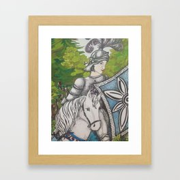 Detail from 'Rapunzel be careful what you wish for' - My knight in shining armour Framed Art Print