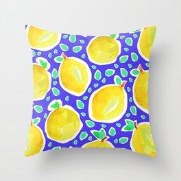Lemon Crush 3 Throw Pillow