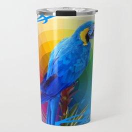 DECORATIVE CERULEAN BLUE MACAW  COLORFUL ART Travel Mug