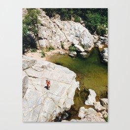 Hiking on Rocks Canvas Print
