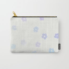 Forget Me Not blue flowers Carry-All Pouch