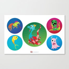Sal Sea Horse and Friends. Canvas Print