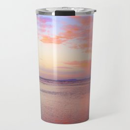 Looking Northwest on the Beach at Sunset by Reay of Light Travel Mug