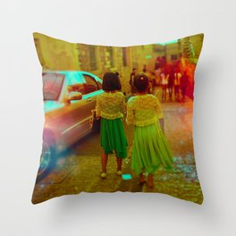 How Long Will We Be Connected Throw Pillow
