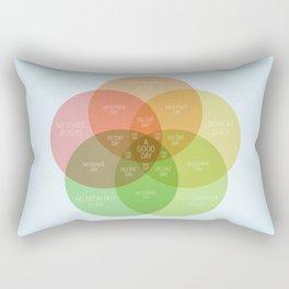 Ice Cube - It Was A Good Day Venn Diagram Rectangular Pillow