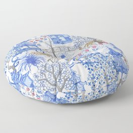 Party Leopards in the Pagoda Forest Floor Pillow