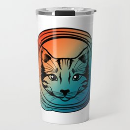 Are You A Fan Of Astronomy? An Astronaut Dreamer? Here's A Gradient Cat Antronaut T-shirt Kitten Travel Mug