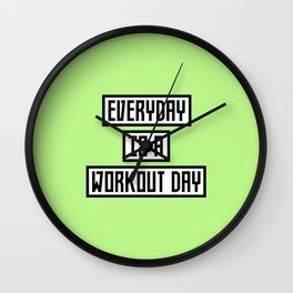 Workout Day fitness T-Shirt for all Ages Dx41w Wall Clock