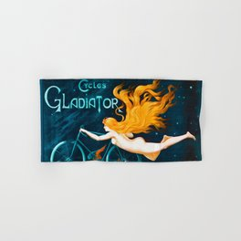 Cycles Gladiator Vintage French Bicycle Hand & Bath Towel