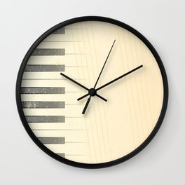 Antique Piano Background Wall Clock