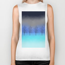 Abstract trees Biker Tank