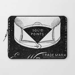 black and white vintage shirt collar retro laundry room Laptop Sleeve