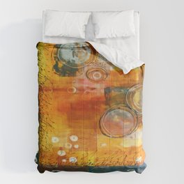 Abstract Hot and Spicy Comforters