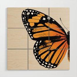 Monarch Butterfly | Left Wing Wood Wall Art
