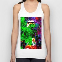 stormtrooper Tank Tops featuring Stormtrooper   by Saundra Myles