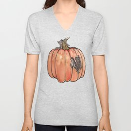 Baby Bats at the Pumpkin Patch Unisex V-Neck