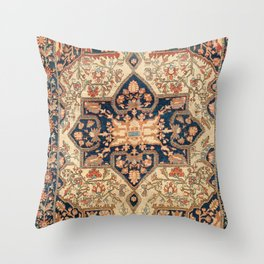 Ferahan  Antique West Persian Rug Print Throw Pillow