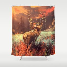 Breath of the wild Shower Curtain