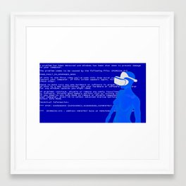 Apocalypse at the edge of vr Framed Art Print