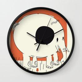 Friendly Little Elephant Wall Clock