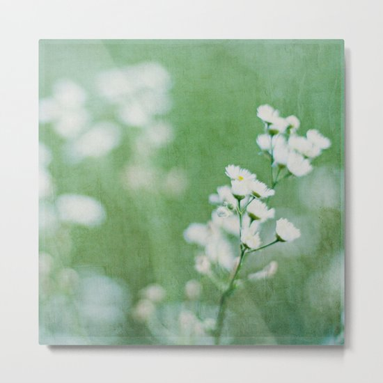 soft white Metal Print