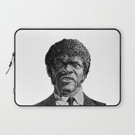 Jules Winnfield Portrait  Samuel L Jackson Pulp Fiction Laptop Sleeve