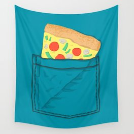 Emergency supply - pocket pizza Wall Tapestry