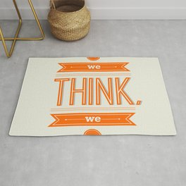 Lab No. 4 - What we think we become Guatama Buddha Quotes Poster Rug