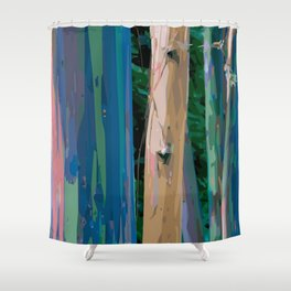Rainbow Forest Shower Curtain