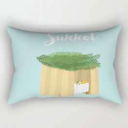 Warm Sukkot Booth of Togetherness and love Rectangular Pillow