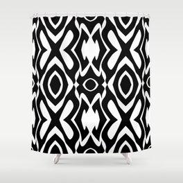 Virulent Black - Abstract Art Shower Curtain