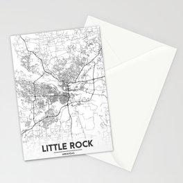 Minimal City Maps - Map Of Little Rock, Arkansas. Stationery Cards