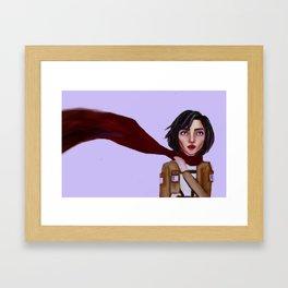 MIKASA ACKERMAN Framed Art Print