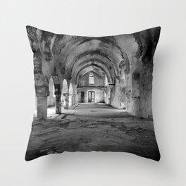 A derelict churh in Northern Cyprus Throw Pillow