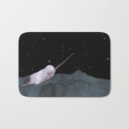 Narwhal's made all those shiny little holes in the night sky Bath Mat