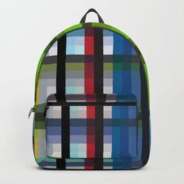 colorful striking retro grid pattern Nis Backpack