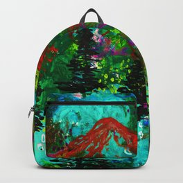 Go Wild - Mountain - Abstract painting Backpack