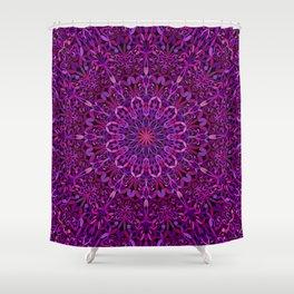 Pretty Purple Mandala Garden Shower Curtain