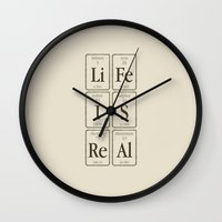 periodic table Wall Clocks featuring Periodic Realisation (clean) by rob art | simple