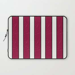 simple red, white stripes. Laptop Sleeve