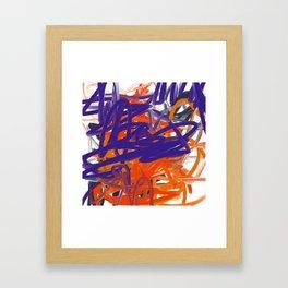 Purple, Orange & White Abstract Framed Art Print