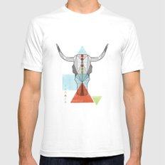 COW GEO SMALL White Mens Fitted Tee