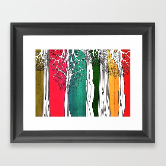 Color Forest Framed Art Print