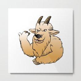 Mountain Goat cartoon. Metal Print