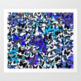 Borboletas Azuis  Art Print