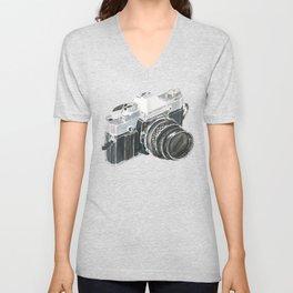 35mm film camera Unisex V-Neck