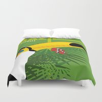 brazil Duvet Covers featuring Brazil [rainforest] by Caetanorama Art Studio